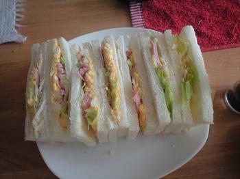 即席サンドイッチ