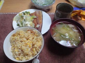 質素な晩御飯
