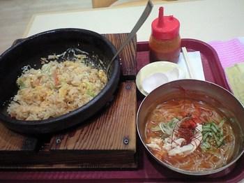 焼チャーハンとミニ冷麺セット
