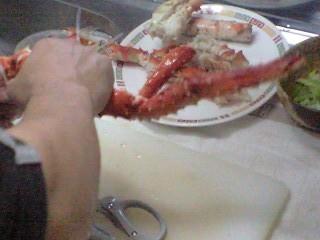 お婆ちゃんからもらった蟹