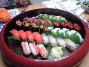 パパの労いのお寿司